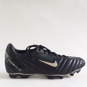Nike ZOOM AIR MEN'S SOCCER CLEATS SHOES BLACK 14